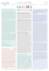 Newsletter haut-Sache Ausgabe 33 | hautok und hautok cosmetics