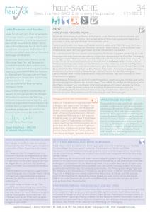 Newsletter haut-Sache Ausgabe 34 | hautok und hautok cosmetics