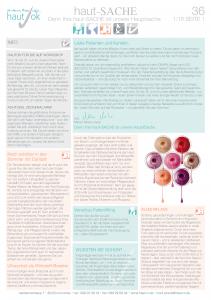 Newsletter haut-Sache Ausgabe 36 | hautok und hautok cosmetics