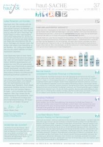 Newsletter haut-Sache Ausgabe 37 | hautok und hautok cosmetics