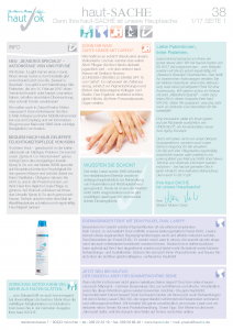 Newsletter haut-Sache Ausgabe 38 | hautok und hautok cosmetics