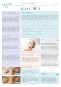 Newsletter haut-Sache Ausgabe 39 | hautok und hautok cosmetics