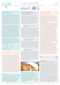 Newsletter haut-Sache Ausgabe 40 | hautok und hautok cosmetics