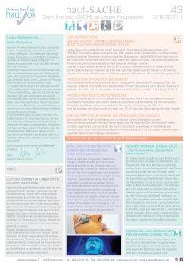 Newsletter haut-Sache Ausgabe 43 | hautok und hautok cosmetics