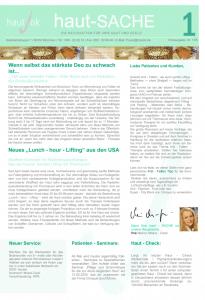 Newsletter haut-Sache Ausgabe 01 | hautok und hautok cosmetics