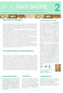 Newsletter haut-Sache Ausgabe 02 | hautok und hautok cosmetics