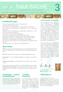 Newsletter haut-Sache Ausgabe 03 | hautok und hautok cosmetics