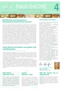 Newsletter haut-Sache Ausgabe 04 | hautok und hautok cosmetics