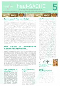 Newsletter haut-Sache Ausgabe 05 | hautok und hautok cosmetics