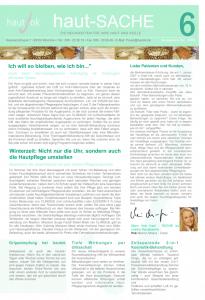 Newsletter haut-Sache Ausgabe 06 | hautok und hautok cosmetics