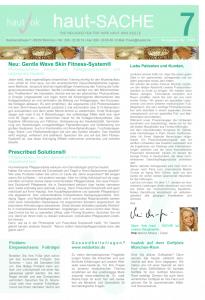 Newsletter haut-Sache Ausgabe 07 | hautok und hautok cosmetics