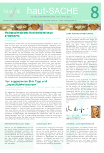 Newsletter haut-Sache Ausgabe 08 | hautok und hautok cosmetics