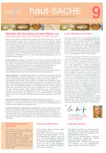 Newsletter haut-Sache Ausgabe 09 | hautok und hautok cosmetics
