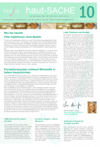 Newsletter haut-Sache Ausgabe 10 | hautok und hautok cosmetics