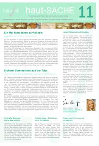 Newsletter haut-Sache Ausgabe 11 | hautok und hautok cosmetics
