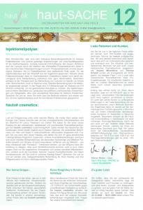 Newsletter haut-Sache Ausgabe 12 | hautok und hautok cosmetics
