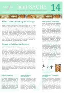 Newsletter haut-Sache Ausgabe 14 | hautok und hautok cosmetics