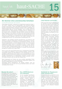 Newsletter haut-Sache Ausgabe 15 | hautok und hautok cosmetics