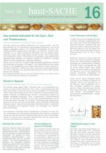 Newsletter haut-Sache Ausgabe 16 | hautok und hautok cosmetics