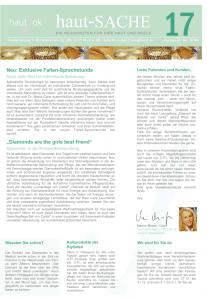 Newsletter haut-Sache Ausgabe 17 | hautok und hautok cosmetics