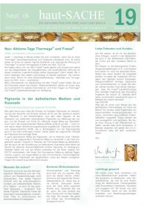 Newsletter haut-Sache Ausgabe 19 | hautok und hautok cosmetics