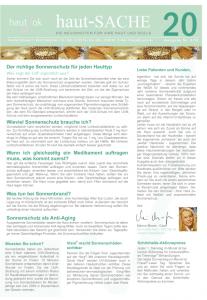 Newsletter haut-Sache Ausgabe 20 | hautok und hautok cosmetics