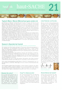 Newsletter haut-Sache Ausgabe 21 | hautok und hautok cosmetics