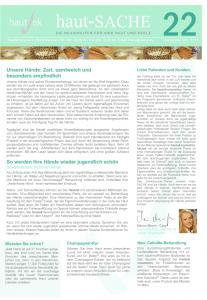Newsletter haut-Sache Ausgabe 22 | hautok und hautok cosmetics