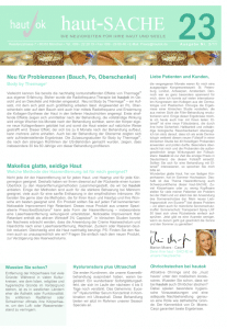 Newsletter haut-Sache Ausgabe 23 | hautok und hautok cosmetics