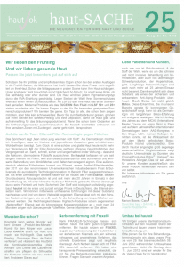 Newsletter haut-Sache Ausgabe 25 | hautok und hautok cosmetics