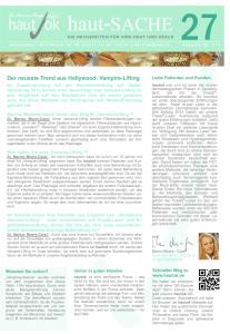 Newsletter haut-Sache Ausgabe 27 | hautok und hautok cosmetics