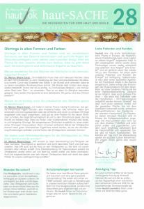 Newsletter haut-Sache Ausgabe 28 | hautok und hautok cosmetics