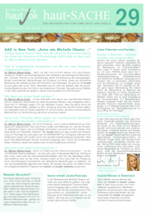 Newsletter haut-Sache Ausgabe 29 | hautok und hautok cosmetics