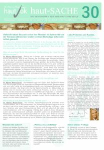 Newsletter haut-Sache Ausgabe 30 | hautok und hautok cosmetics