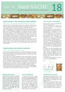 Newsletter haut-Sache Ausgabe 18 | hautok und hautok cosmetics